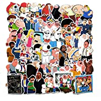 Meet Holiday Family Guy Laptop Stickers for Kids, 67 Pcs/Pack Cartoon Waterproof Vinyl Water Bottle Computer Notebook Car Skateboard Motorcycle Bicycle Luggage Guitar Bike Decal