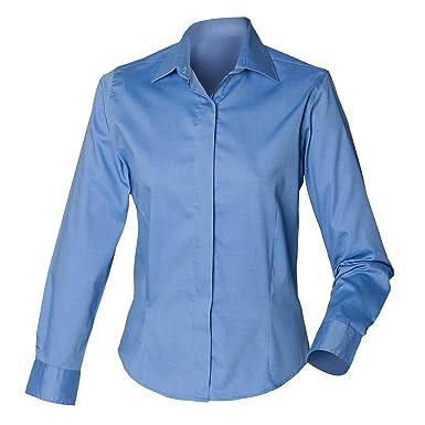451ddfe36b1a9 Henbury Damen Oxford Bluse Langarm, körperbetont: Amazon.de: Bekleidung