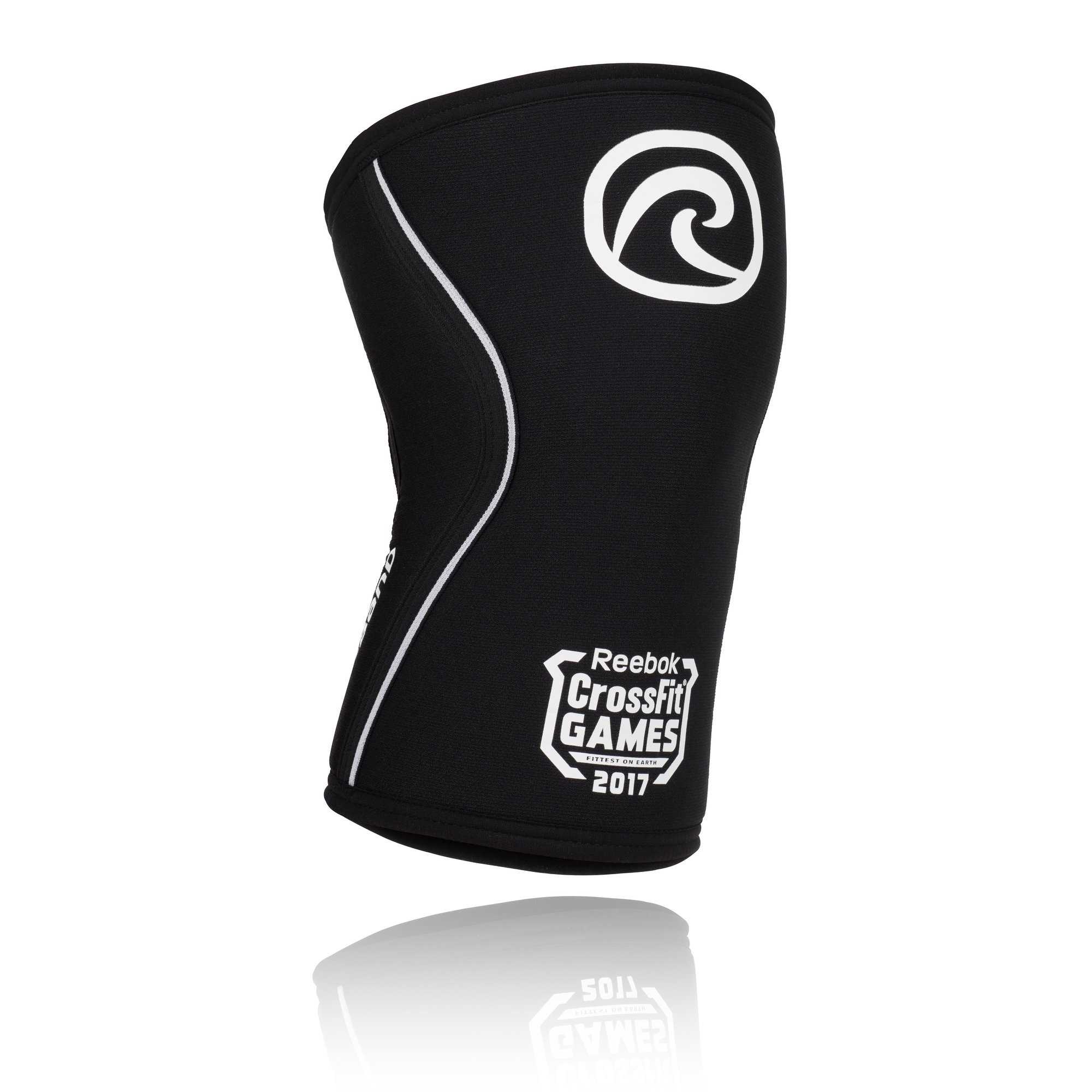Rehband Crossfit Games Rx Knee Support 7mm - X-Small - Black - Expand Your Movement + Cross Training Potential - Knee Sleeve for Fitness - Feel Stronger + More Secure - Relieve Strain - 1 Sleeve