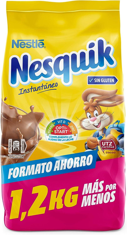 Nestlé Nesquik Cacao Soluble Instantáneo Bolsa De Cacao Soluble 1 2 Kg Amazon Es Alimentación Y Bebidas