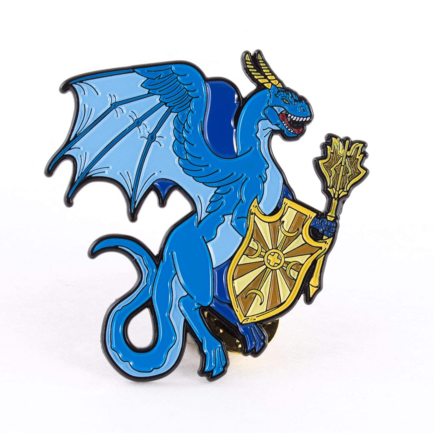 The Warrior Dragon Dungeons and Dragon Themed Dragon Enamel Pin