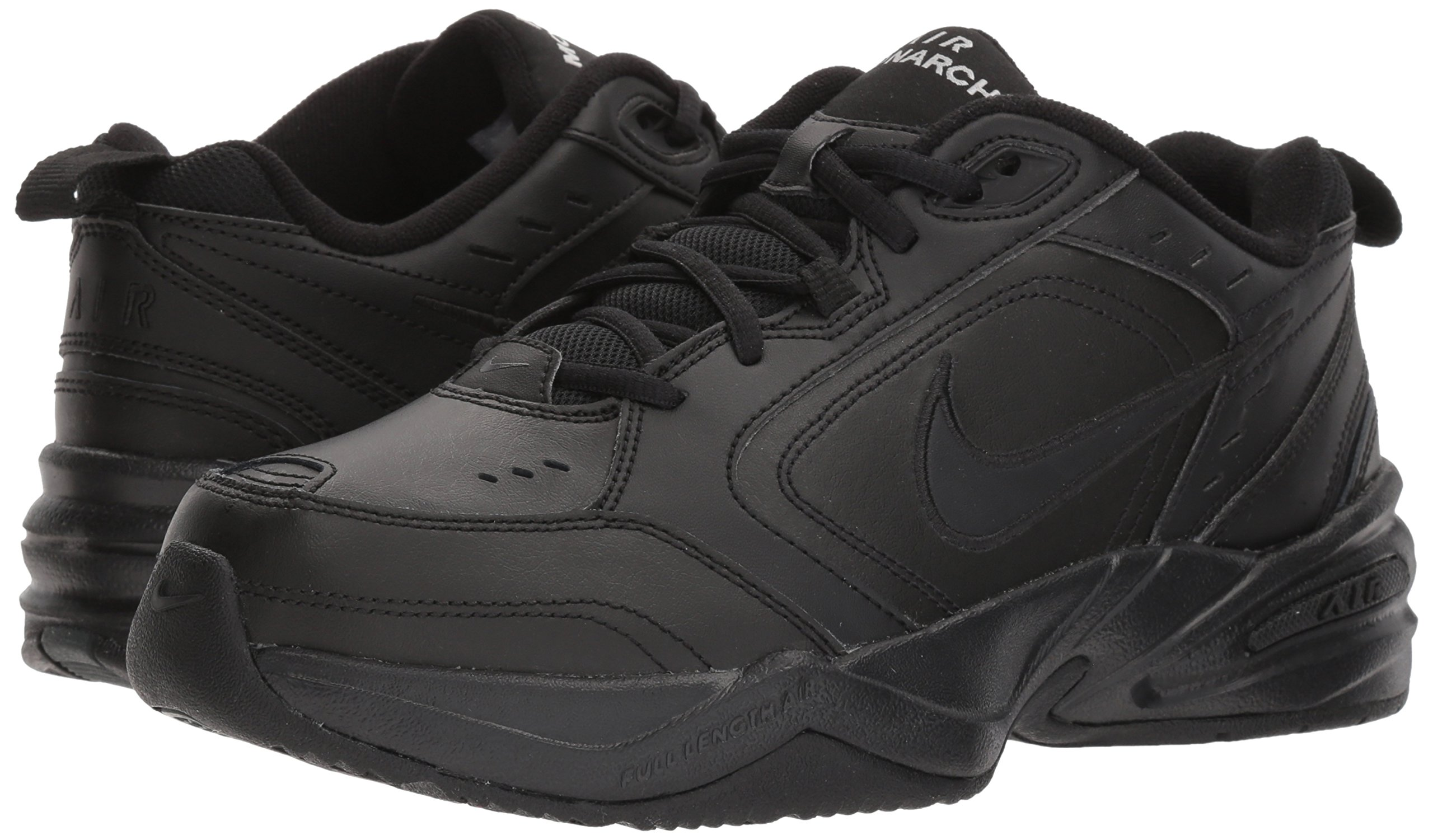 NIKE AIR MONARCH IV (MENS) - 6 Black/Black by Nike (Image #6)