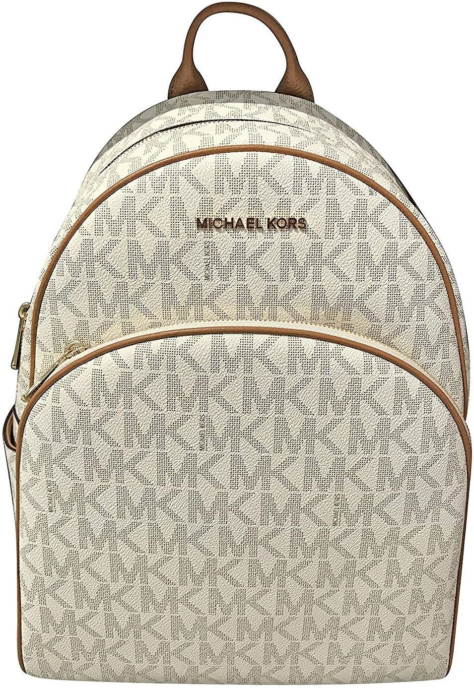 MICHAEL Michael Kors Abbey Jet Set Large Leather Backpack (Vanilla)
