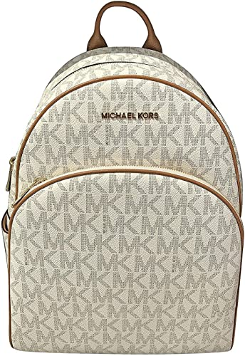 MICHAEL Michael Kors Abbey Jet Set Large Leather Backpack Vanilla