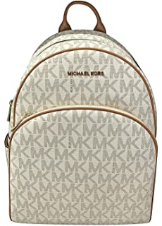 1e9dd4fa8914 MICHAEL Michael Kors Abbey Jet Set Large Leather Backpack (Vanilla)