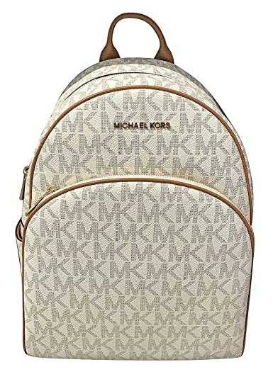 81940ace5c6954 Michael Michael Kors Abbey Jet Set Large Leather Backpack (Vanilla):  Amazon.ca: Luggage & Bags