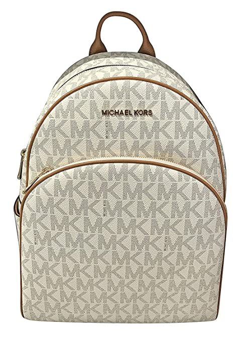 a7f48f8e3180 Michael Michael Kors Abbey Jet Set Large Leather Backpack (Vanilla): Amazon.ca:  Luggage & Bags