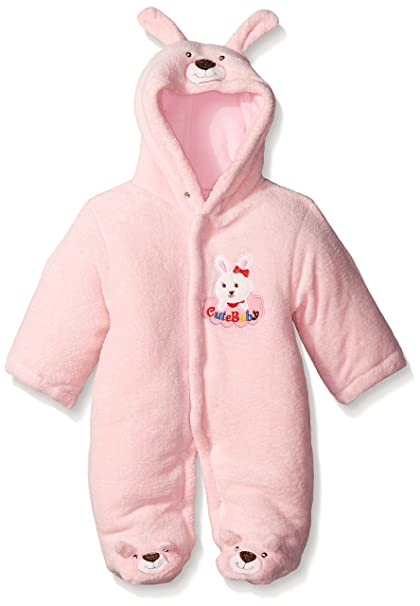 dfa4bafeea4 Newborn Baby Clothes Girls Boys Romper Winter Jumpsuit Thicken Cotton 0-3M  Pink