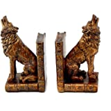 Howling Wolf Book Ends Bookends Sculptures, Replica Antiques ART Deco French