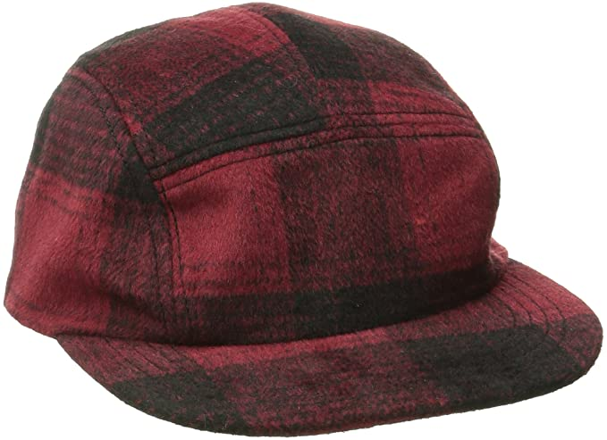 San Diego Hat Co. Men s Plaid Cap Hat with Adjustable Leather Strap ... 47ab24ddd4b