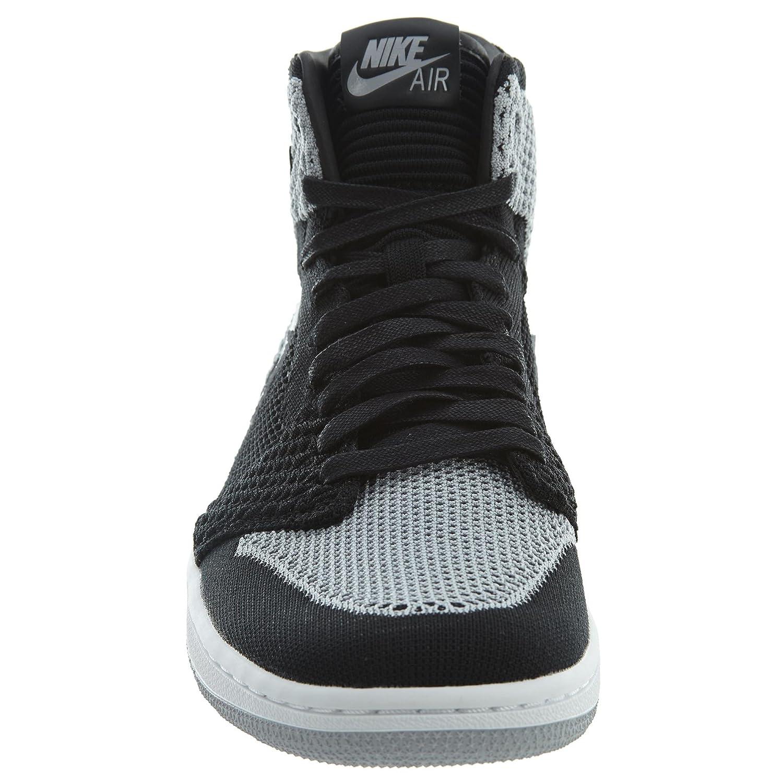 factory price d724f aa730 Amazon.com  NIKE Air Jordan 1 Retro Hi Flyknit Mens Basketball Trainers  919704 Sneakers Shoes (UK 7 US 8 EU 41, Black White Wolf Grey 003)   Fashion ...