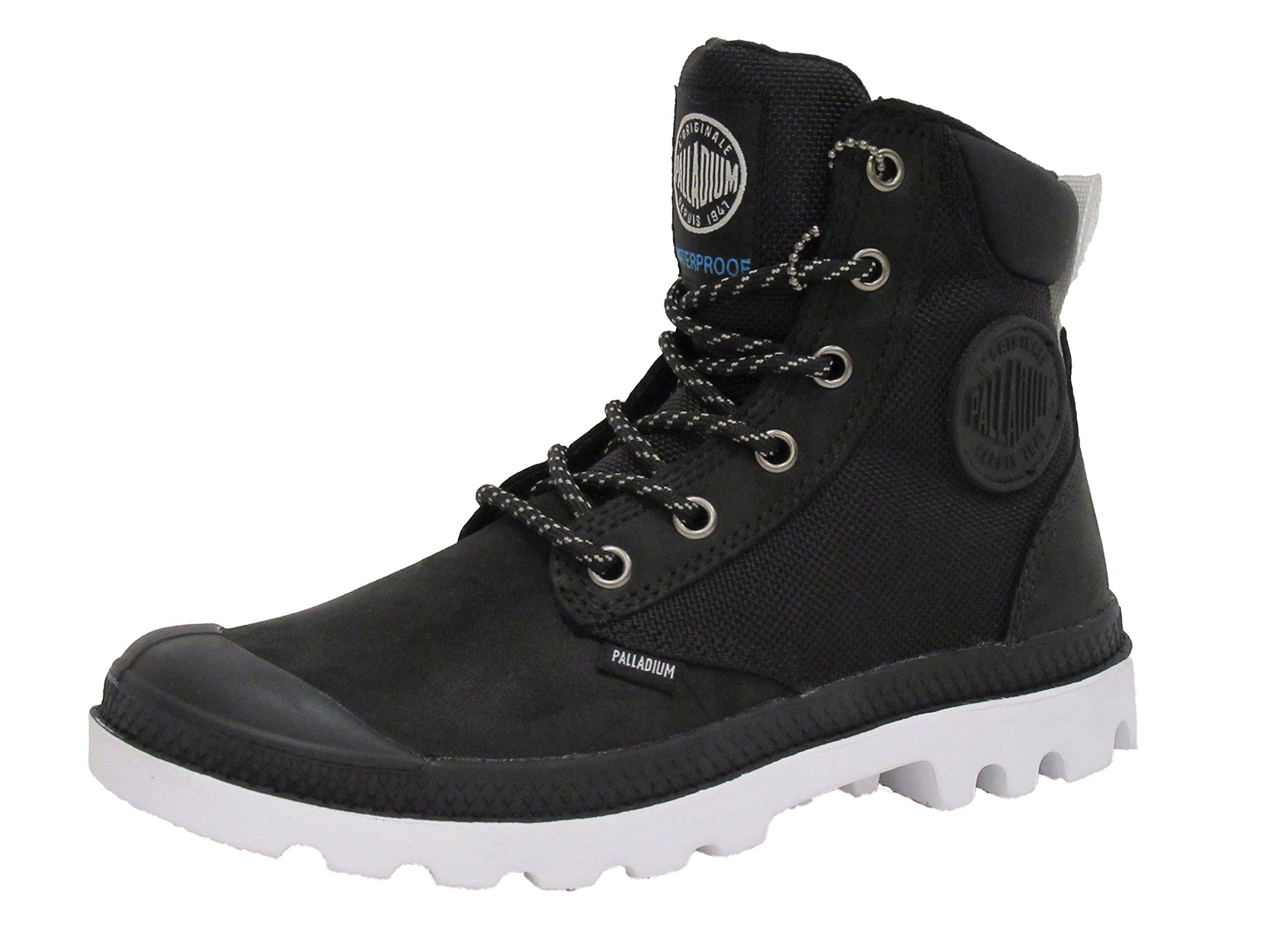 Palladium Boots Pampa Sport Cuff Wpn Waterproof Boots, Black/White, 3.5