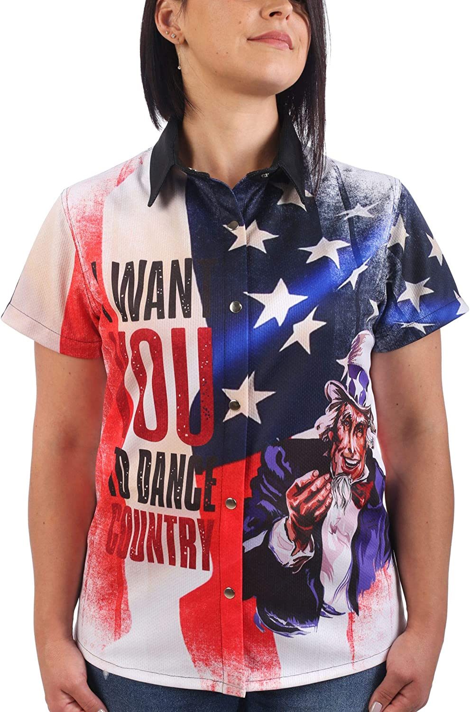 Last Rebels - Camisa Country Music, línea Dance, mujer ...