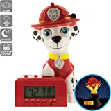 BulbBotz Paw Patrol Marshall Kids Night Light Alarm Clock with Characterized Sound | red/white| plastic | 5.5 inches tall | LCD display | boy girl | official