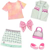 """Glitter Girls by Battat – Dazzling Denim Skirt & Top Deluxe Outfit - 14"""" Doll Clothes & Accessories for Girls Age 3 & Up…"""