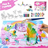 Retruth Kids Unicorn Painting Kits w/ Unicorn Hairband, Kids Painting Toys for Girls, Kids Unicorn Arts and Crafts with Glitt
