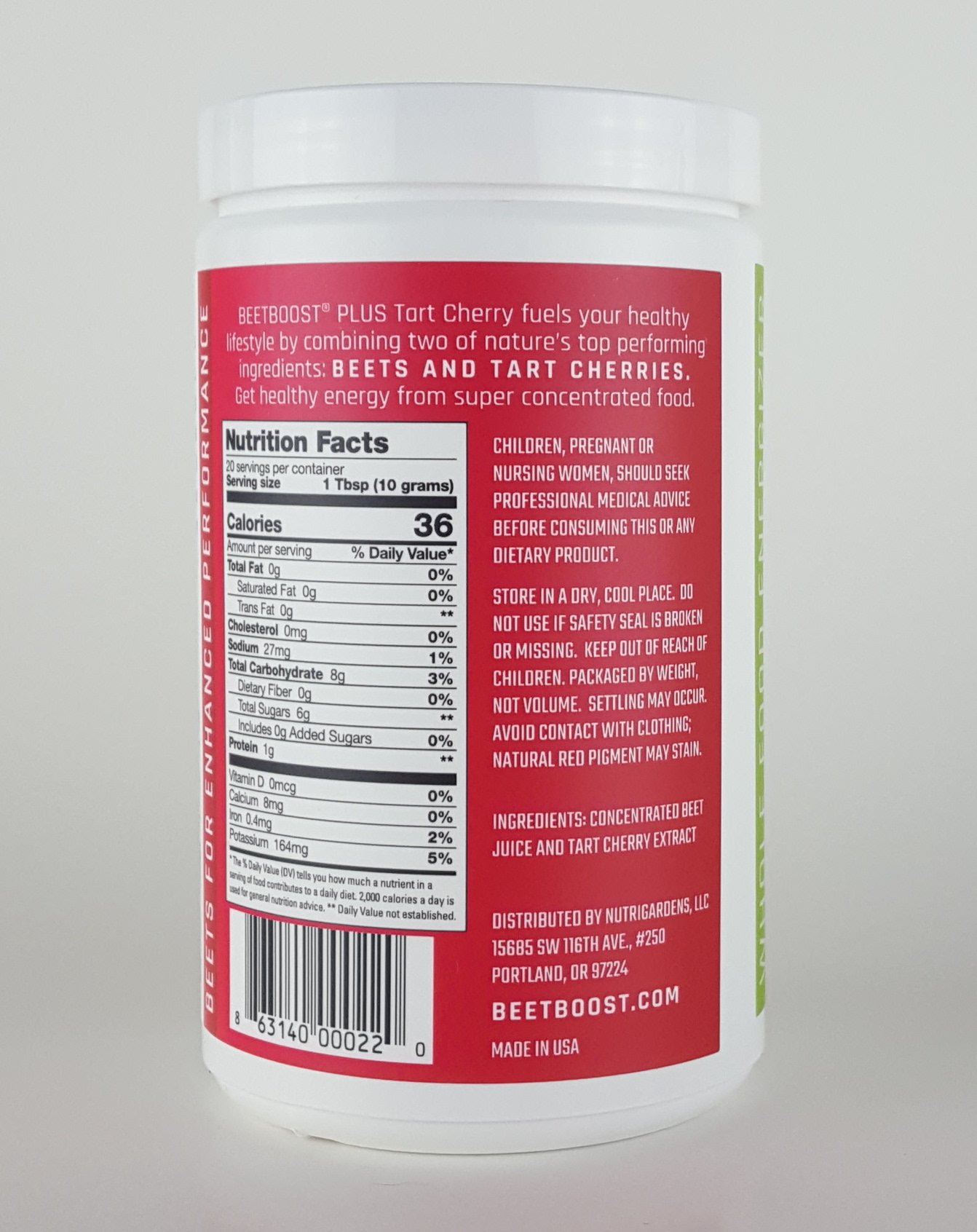 BEET BOOST® for Stamina by NutriGardens - Increase Endurance & Circulation – Concentrated Beets Blended with Tart Cherry for Nitric Oxide BOOST - Reduce Inflammation in Joints & Muscles (7 ounces jar) by Beet Boost (Image #2)