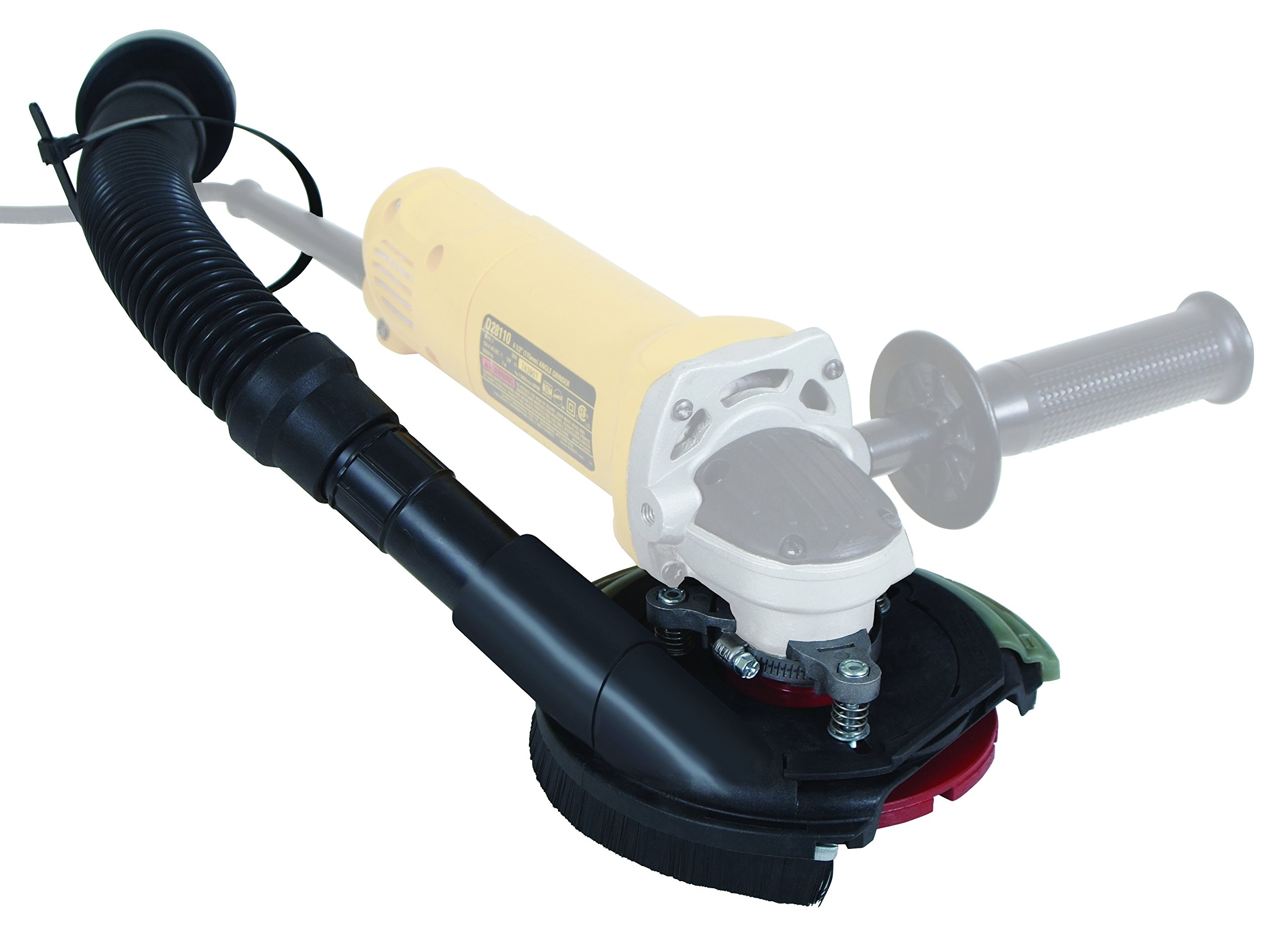 Dustless Technologies D5850 Dust Buddie XP Universal Dust Control Attachment for Grinders, 7'', Black/Gray by Dustless Technologies (Image #3)