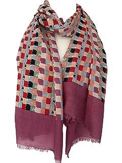 Purple Possum UK - Echarpe - Femme Marron Burgundy,red,brown,wine L ... f06da125ac8