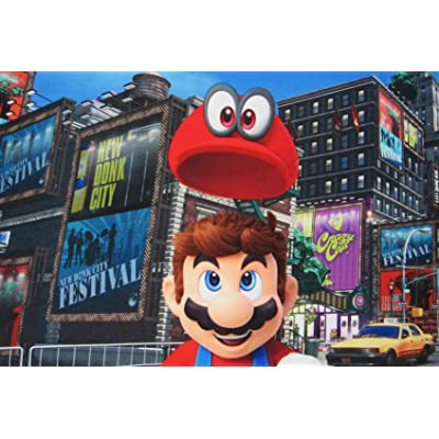 Super Mario Cap's Off 100% Polyester (Pillowcase ONLY) Size Standard Boys Girls Kids Bedding: Baby