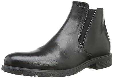 Homme Découvrez Cuir Geox FEDERICO B Noir Bottines Boots