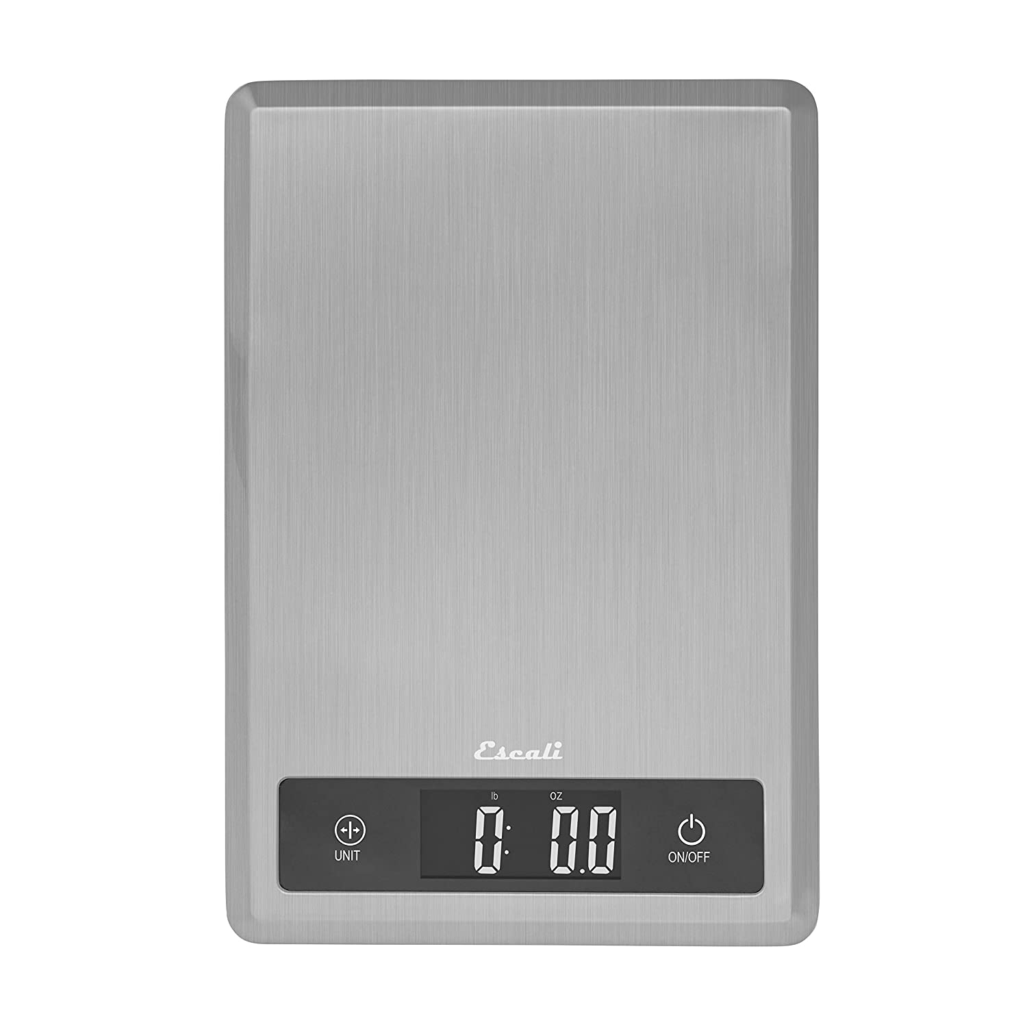 Escali T115SUltra Thin Kitchen, Office, Herb Scale, Tare Functionality, LCD Digital Display, 11lb Capacity, Silver