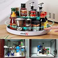 Dedex Spice Organizer Lazy Susan 360 Rotating Storage Organizer for Kitchen Cabinet Fridge Countertop Bathroom Vanity…