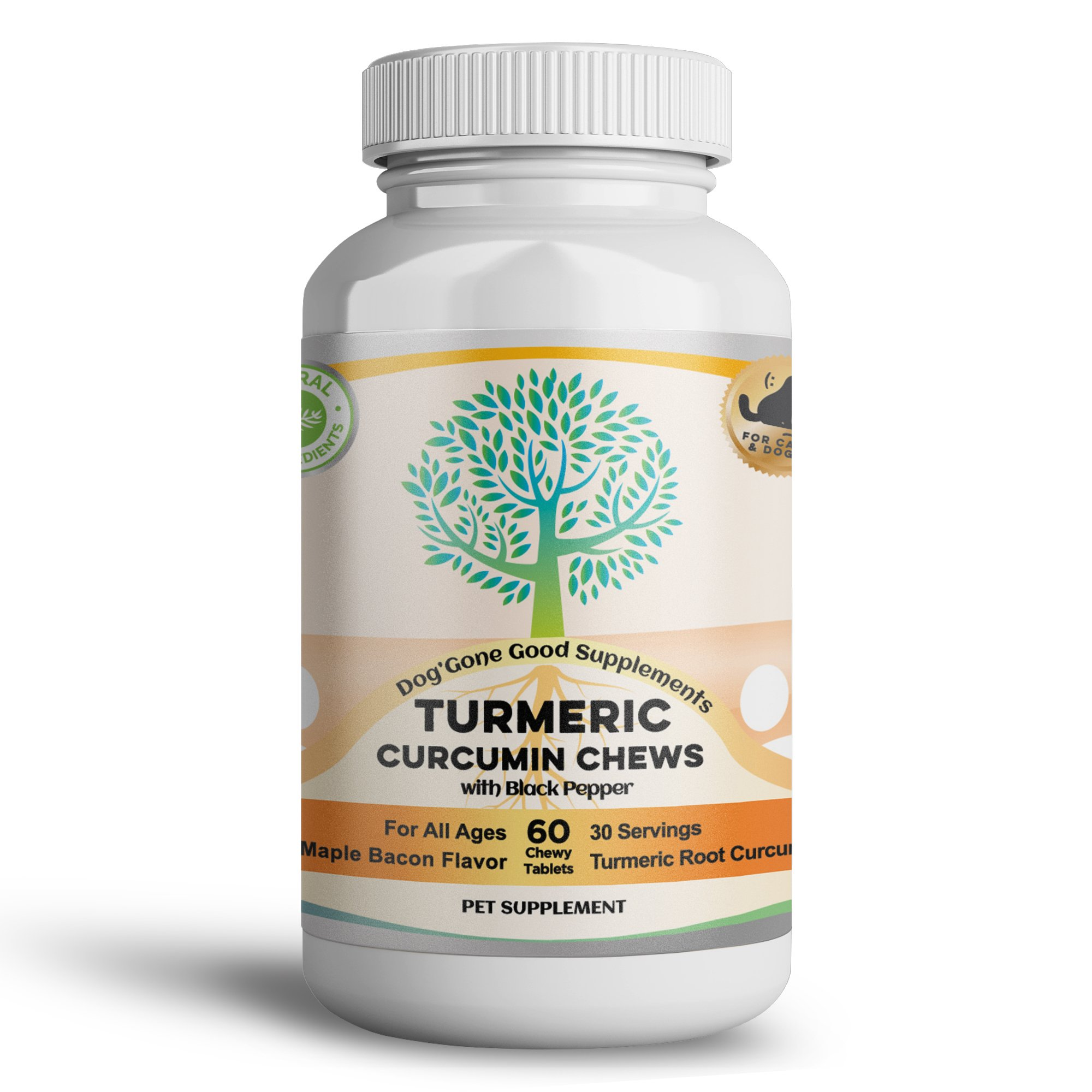 Turmeric Curcumin, Turmeric Curcumin Supplement, Organic Turmeric Curcumin Supplement - 60 Count Turmeric Curcumin Chews for Pet's by Dog' Gone Good Supplements - Digestive Health, Joint Health, Anti by Dog'gone Good Supplements