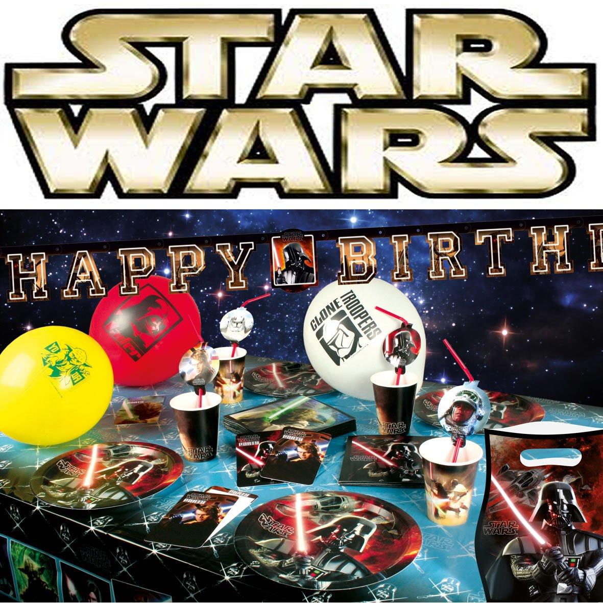12 Teiliges Einladungen Set * STARS WARS * Mit 6 Einladungskarten Und 6  Umschläge Für Kindergeburtstag // Kinder Geburtstag Party Einladung Karten  Jungs ...