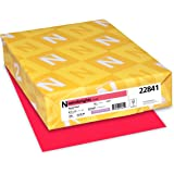 "Astrobrights Colored Cardstock, 8.5"" x 11"", 65 lb / 176 gsm, Rocket Red, 250 Sheets"