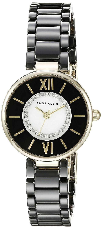 d237bd056 Amazon.com: Anne Klein Women's AK/2178BKGB Swarovski Crystal Accented Gold- Tone and Black Ceramic Bracelet Watch: Anne Klein: Watches
