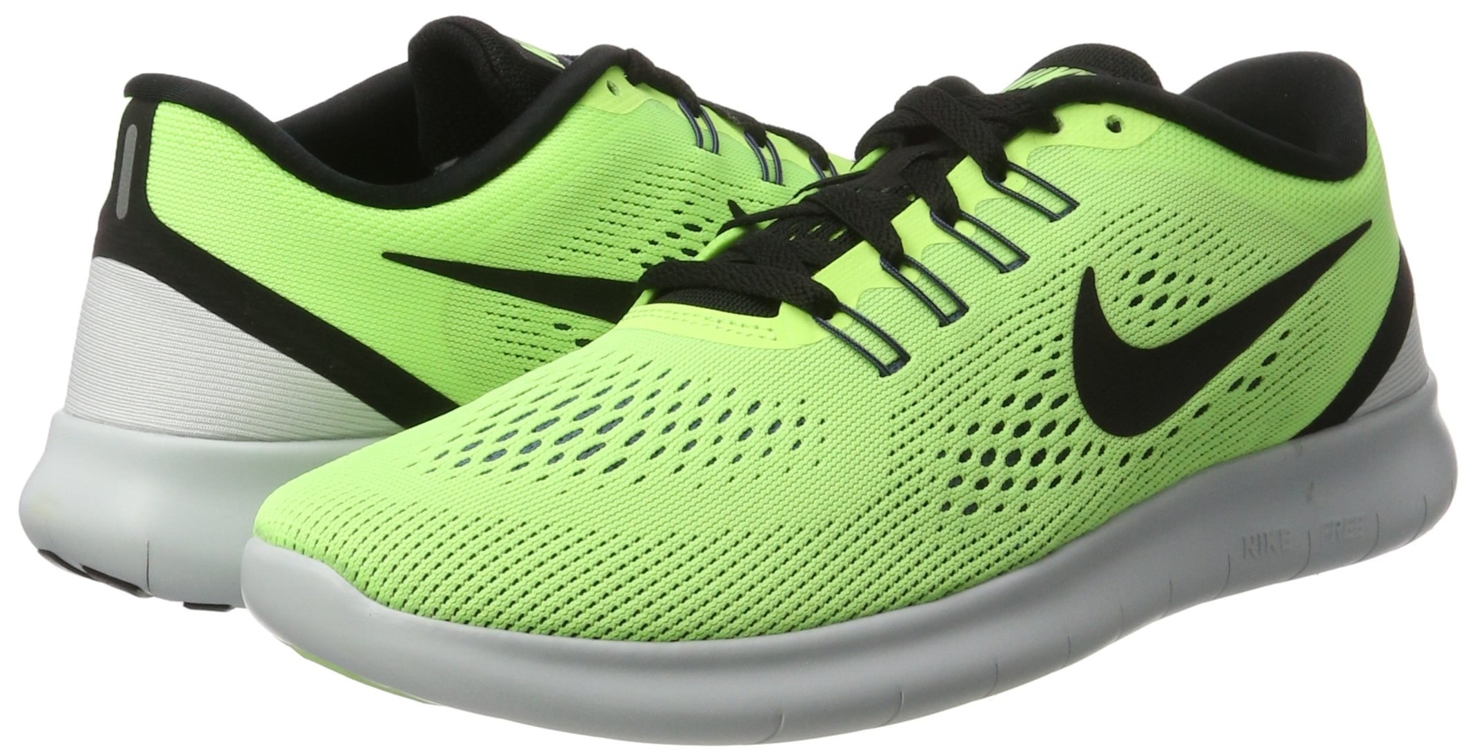 Nike Free RN Ghost Green/Black/Blue Moon Mens Running Shoes by Nike (Image #5)
