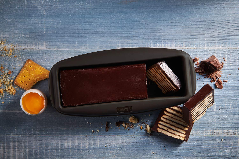 Lurch 85038 FlexiForm Kastenform Brotbackform aus Silikon f/ür kleine Kuchen und Brote 20 x 6cm