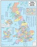 British Isles Administrative Wall Map: Laminated