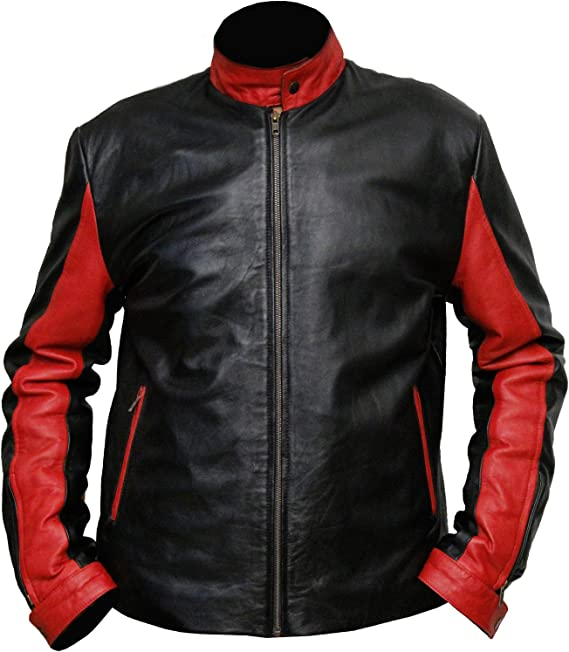 LeatherArtistics Classy Black and Red Mens Prestige Choice HQ Genuine Leather Jacket