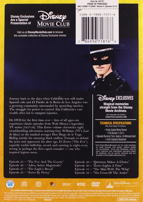 Amazon com: Zorro: Season 1, Vol  4: Guy Williams: Movies & TV