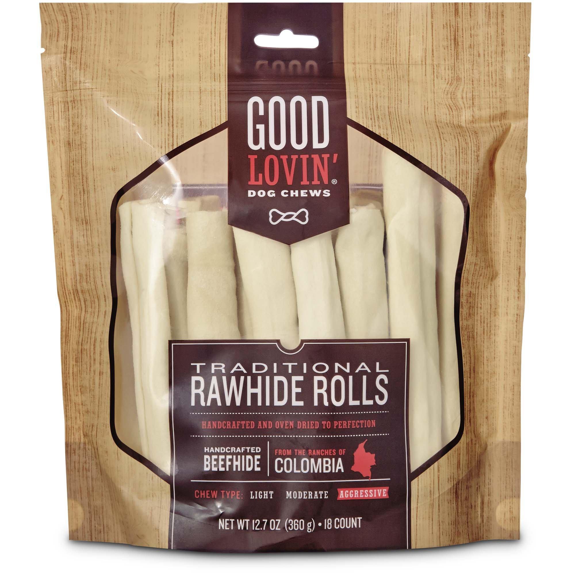 Good Lovin' Traditional Rawhide Roll Dog Chew, 12.7 oz. by Good Lovin'