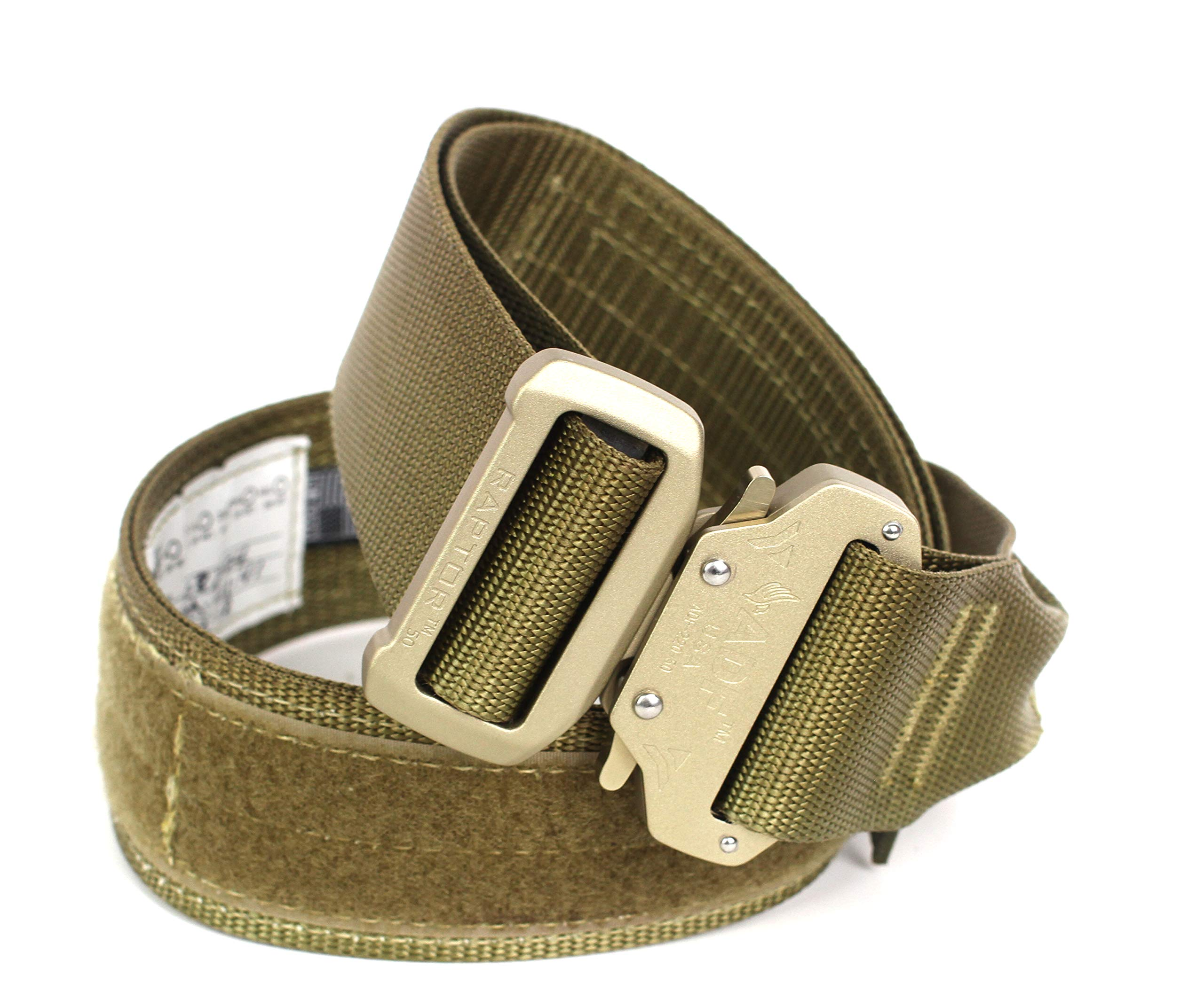 Fusion Tactical Military Police Riggers Belt Coyote Brown Medium 33-38''/2'' Wide