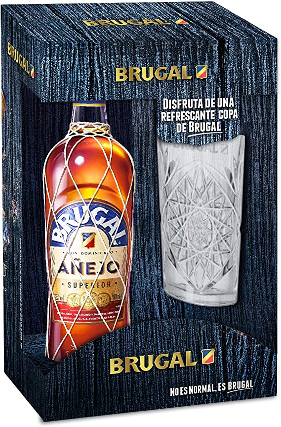 70cl, 40/% BOTELLA BOTTLE RUM RON RHUM BRUGAL BLANCO SUPREMO WHITE CUBA ·