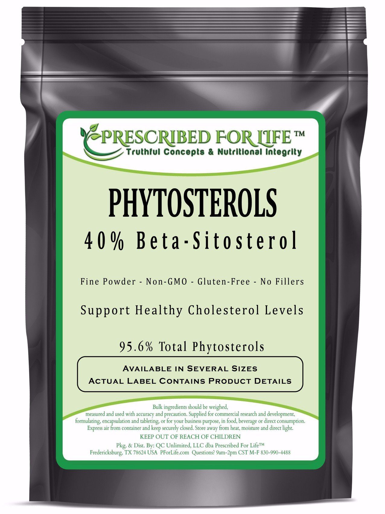 Beta Sit isterol - 40%+ Beta Sit isterols Fine Powder Extract - Natural Phytosterol, 1 kg by Prescribed For Life (Image #1)