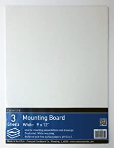Crescent #X Mounting Board, Value Pack, 3 Count, 9