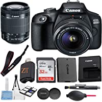 Canon EOS 4000D / Rebel T100 DSLR Camera w/ 18-55MM DC III Zoom Lens with Accessory Bundle + SanDisk 32GB Memory Card…