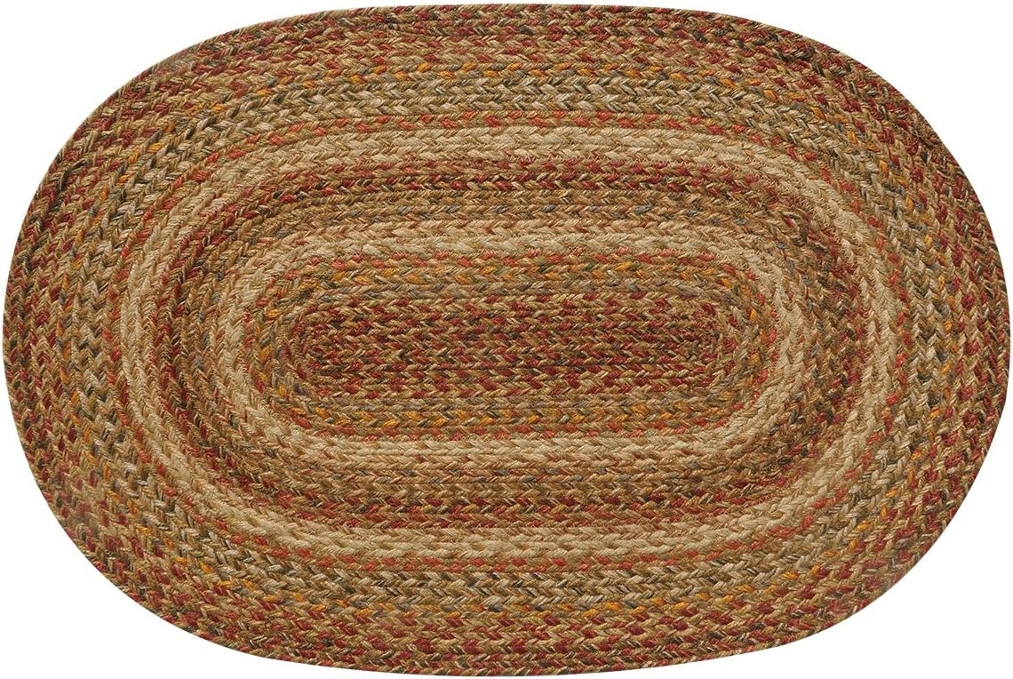 Homespice D cor Jute Braided Rug 2 6 x 6 Oval Beige