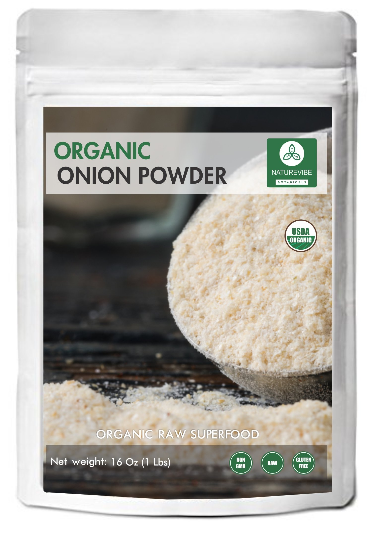 Naturevibe Botanicals - Organic Ground Onion Powder (1 pound) by Naturevibe Botanicals