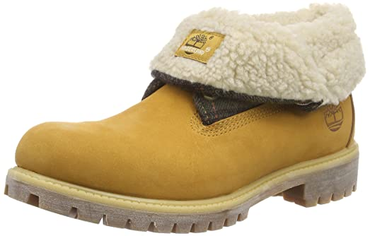 UK Shoes Store - Timberland Roll Top Top FTB_Roll No. AF Boots man Yellow (Wheat)