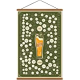 Various Beer Infographic Collection Poster Print on Canvas Chart Kitchen Bar Wall Art Decor Drink Lover Gift List Ready to Ha