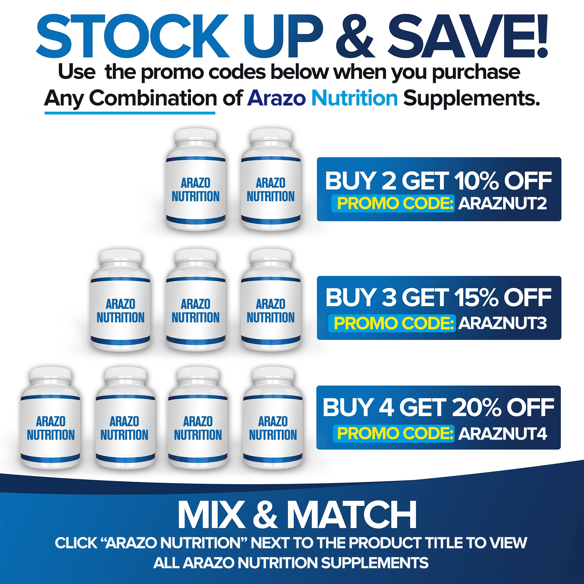 5-HTP 200 mg Supplement - 120 Capsules - Arazo Nutrition by Arazo Nutrition (Image #7)