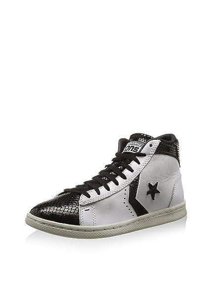 CONVERSE 146406C optical whit pro lthr lp zip mid shoes girl