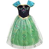 Lito Angels Niñas Disfraz de Princesa Anna Vestido de Coronación Fiesta Disfraces de Halloween Talla 10-11 años