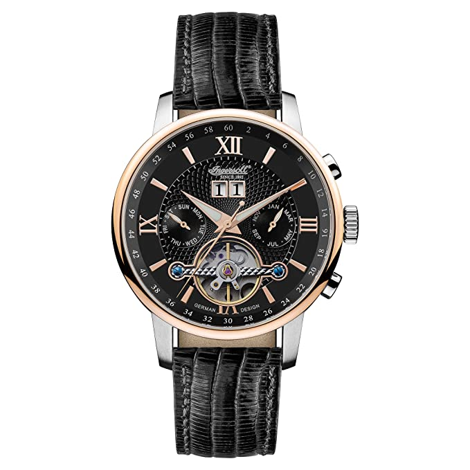 Amazon.com: Ingersoll Mens IN6900RBK Automatic Grand Canyon IV Rose-Gold Watch with Black Band: Watches